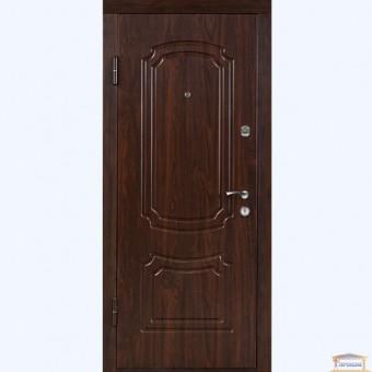 Изображение Дверь входная металлическая ПБ 01 левая 860 мм орех коньячный