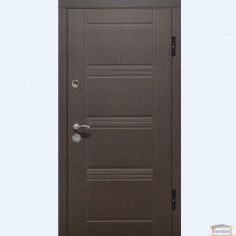 Изображение Дверь метал. ПО 29 правая 860мм венге горизонт серый купить в procom.ua