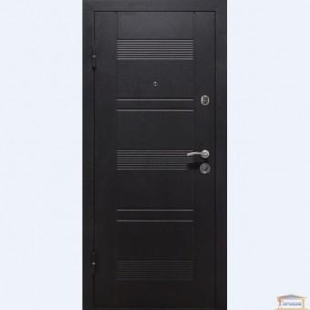 Изображение Дверь входная металлическая ПУ-132 левая 960 мм венге горизонт серый купить в procom.ua