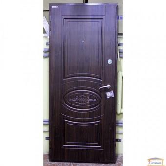 Изображение Дверь метал. Премиум 100 Вена 960 VIN темный орех  левая купить в procom.ua