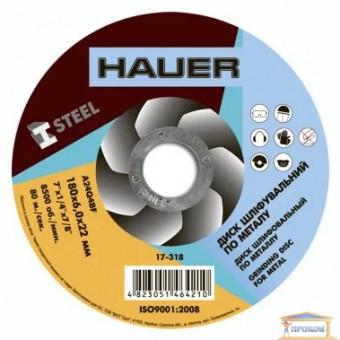 Изображение Диск шлифовальный по металлу Hauer 180x6,0х22 17-318