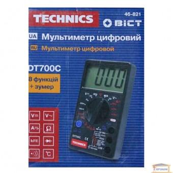 Изображение Мультиметр цифровой DT700C, 8 функций+зумер 46-821
