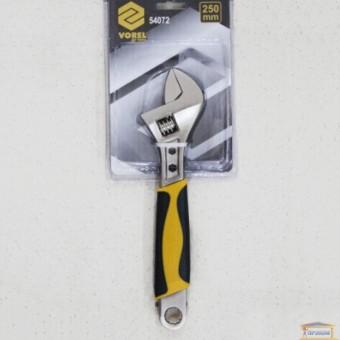 Изображение Ключ разводной с обрезиненой ручкой 250мм Vorel 54072 купить в procom.ua