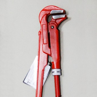"""Изображение Ключ трубный карбоновая сталь 1"""" 90° VOREL 55215 купить в procom.ua"""
