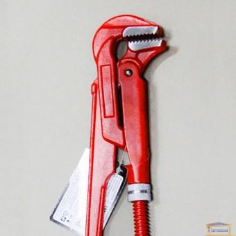 """Изображение Ключ трубный карбоновая сталь 1,5"""" 90° VOREL 55216 купить в procom.ua"""