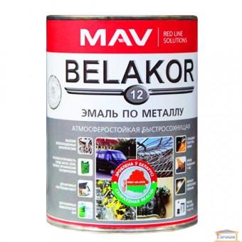 Изображение Эмаль BELAKOR 12 по металлу RAL 9004 чёрная 1,0л
