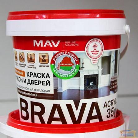 Изображение Краска BRAVA ACRYL 35у для окон и дверей М-1 п/гл 1л (1,1кг) купить в procom.ua - изображение 1