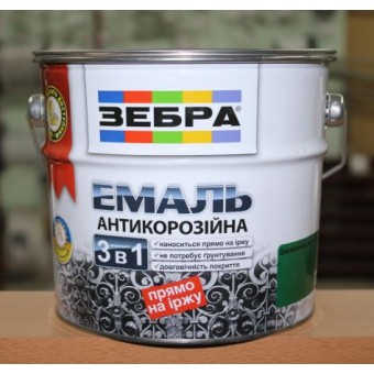 Изображение Эмаль антикоррозионная зеленый изумруд 2 л Зебра №36 купить в procom.ua