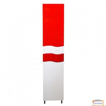 Изображение Пенал для ванны Волна 40 левый красный