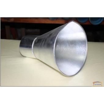 Изображение Воронка оцинкованная прямая с выходом 100мм