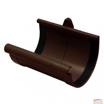 Изображение Муфта желоба 130 коричневая