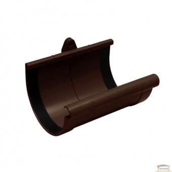 Изображение Муфта желоба 90 коричневая