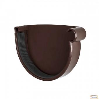 Изображение Заглушка желоба правая 90 коричневая