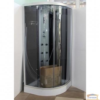Изображение Душевой бокс Delfi 008CВ 90*90*215 стекла черные+радио купить в procom.ua