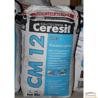 Изображение Клей для керамогранита Ceresit СМ 12 25кг купить в procom.ua