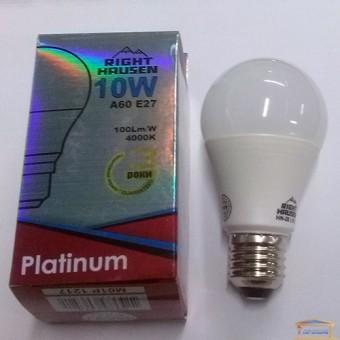 Изображение Лампа LED Right Hausen Platinum A60 10W E27 4000K (HN-281010) купить в procom.ua