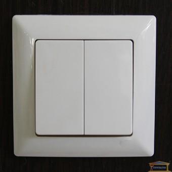 Изображение Выключатель 2-кл. белый Lectris купить в procom.ua