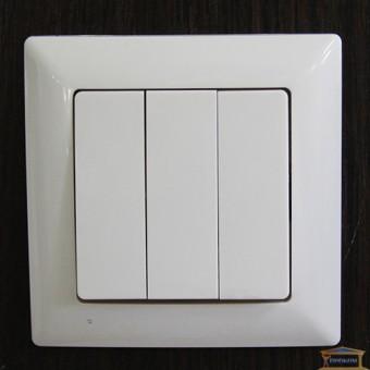 Изображение Выключатель 3-кл. белый Lectris