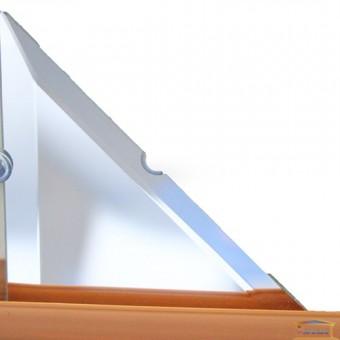Изображение Декор треугольн. зеркальн 106*106 серебро купить в procom.ua