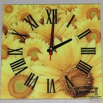 Изображение Часы подсолнух с фирменным логотипом 30*30