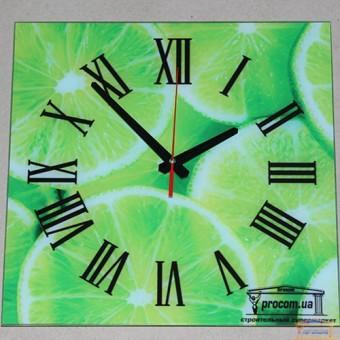 Изображение Часы лимон с фирменным логотипом 30*30