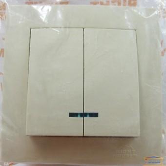 Изображение Выключатель 2-кл. внутр. белый с подсветкой Right hausen velena (HN-011051) купить в procom.ua