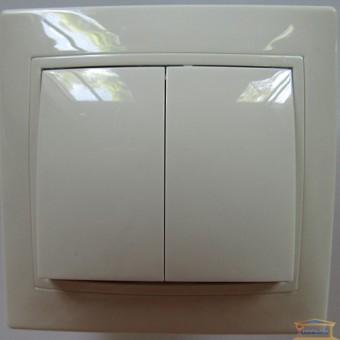 Изображение Выключатель 2-кл белый АСКО купить в procom.ua