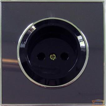 Изображение Розетка 1-я черная LAURA RH-015072