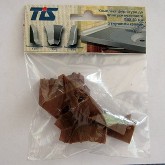 Изображение Комплект фурнитуры для плинтуса кухонного черешня