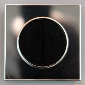 Изображение Выключатель 2-кл. внутр. черный LAURA с подсветкой RH-015052 купить в procom.ua