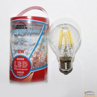 Изображение Лампа LED Right Hausen Filament A60 8W E27 4000K (HN-261020)