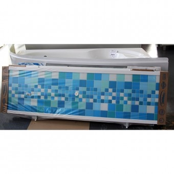 Изображение Экран под ванну Ультра-легкий 1,68м голубая плитка