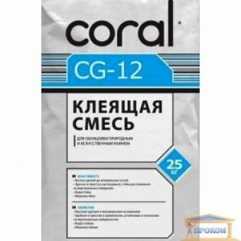 Изображение Клей для природного и искус.камня Coral CG-12 25кг купить в procom.ua