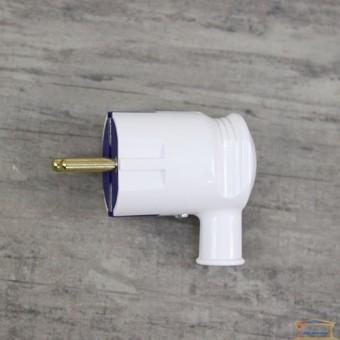 Изображение Вилка угловая с заземл. R H белая (HN-021101) купить в procom.ua