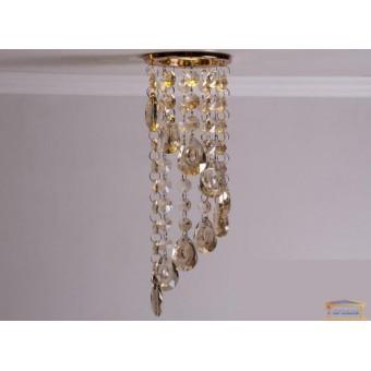 Изображение Точечный светильник с хрустальными подвесками 6013 C GD-SP купить в procom.ua