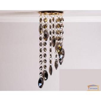 Изображение Точечный светильник с пепельным хрусталем 6013 E GD-SM купить в procom.ua