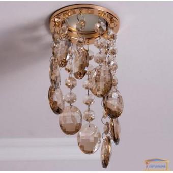 Изображение Точечный светильник с хрустальными подвесками 6016 B GD-SP купить в procom.ua