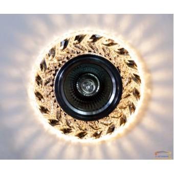 Изображение Точечный светильник со встроенной LED подсветкой 7036 ИП-WH купить в procom.ua