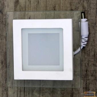 Изображение Светильник LED PANEL SQUARE (квадрат) 6W GLASS White Б-класс 458/1