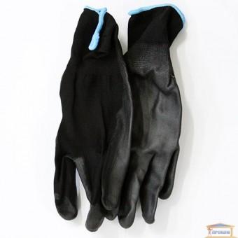 Изображение Перчатки синт. черные с черн. полиур. покр. 69024 купить в procom.ua