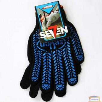 Изображение Перчатки трик. черные с ПВХ точкой 78611 купить в procom.ua