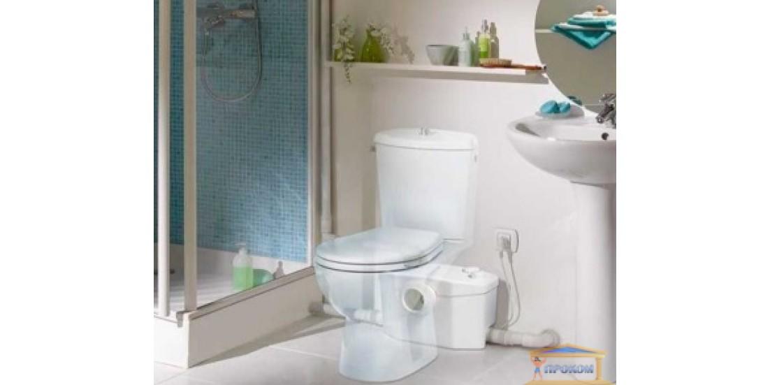 Купить насосную установку Сололифт-2 (Sololift2) и решить проблему с туалетом в подвальном помещении
